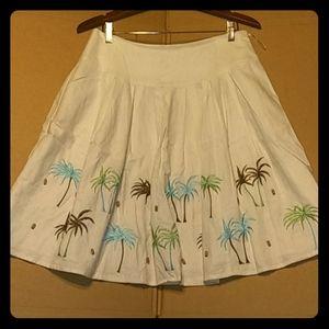 Linen Carole Little skirt